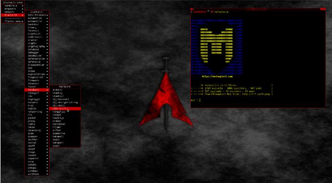 Black Arch Linux Metasploit